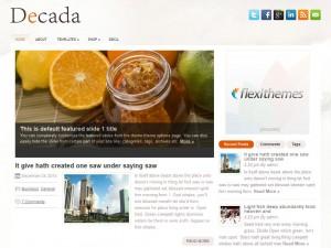 Decada WordPress Theme