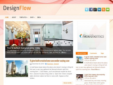 DesignFlow WordPress Theme