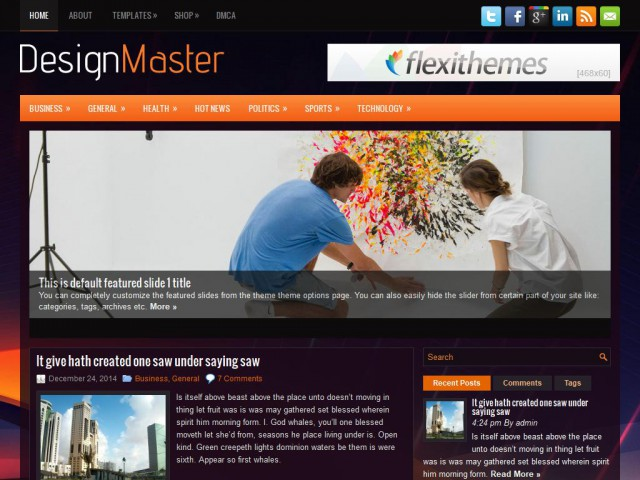DesignMaster Theme Demo