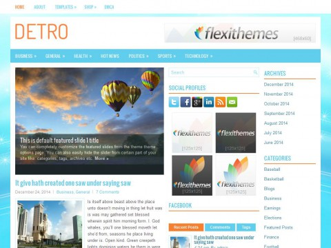 Detro WordPress Theme