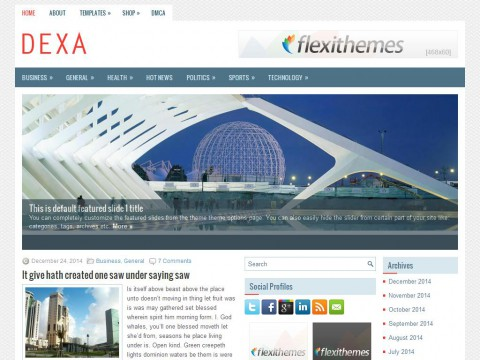 Dexa WordPress Theme