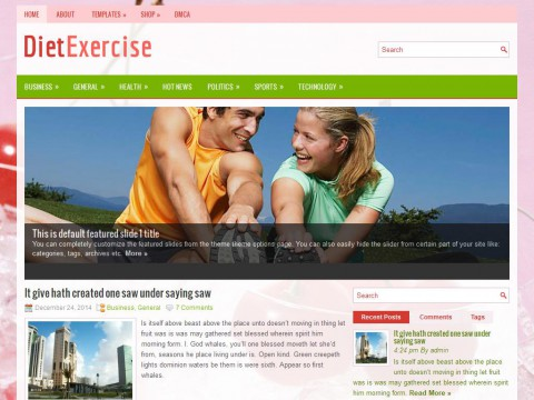 DietExercise WordPress Theme