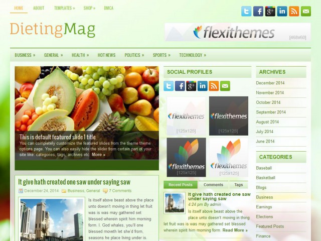 DietingMag Theme Demo