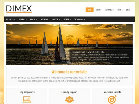 Dimex WordPress Theme