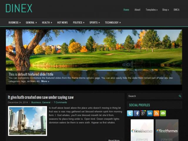 Dinex Theme Demo