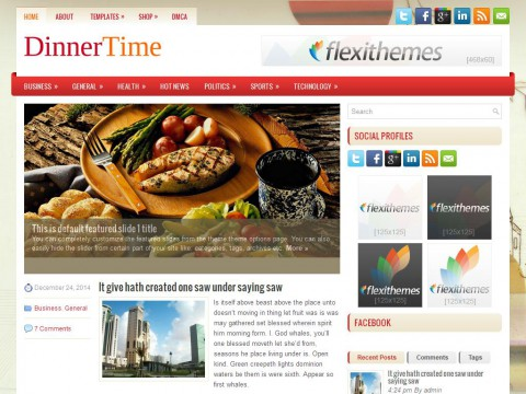 DinnerTime WordPress Theme
