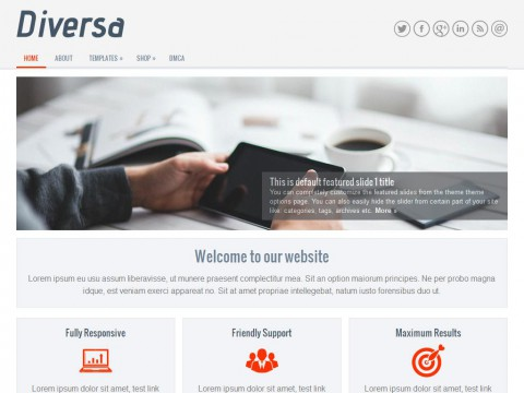 Diversa WordPress Theme