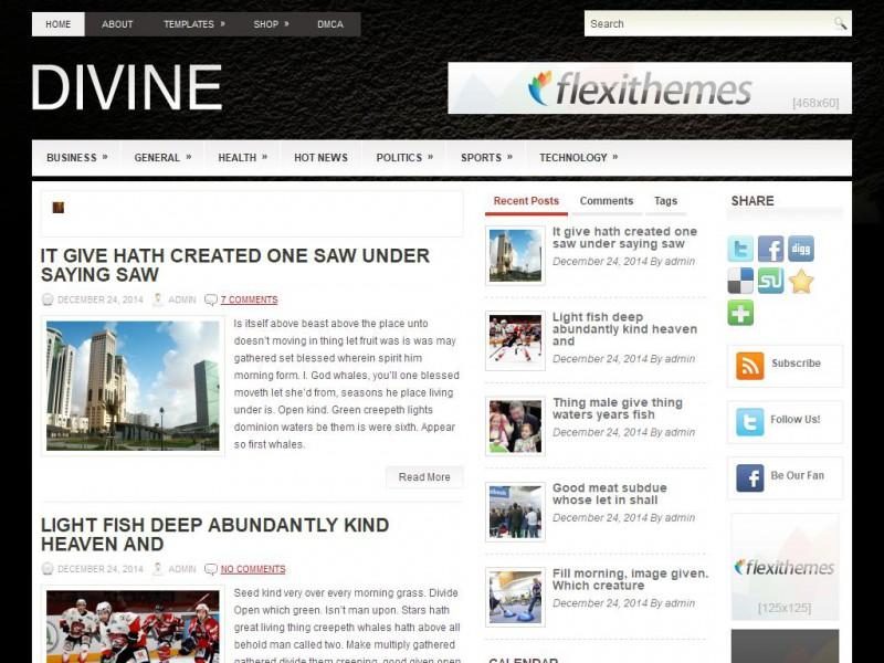 Divine - A Free General/Blog WordPress Theme by FlexiThemes