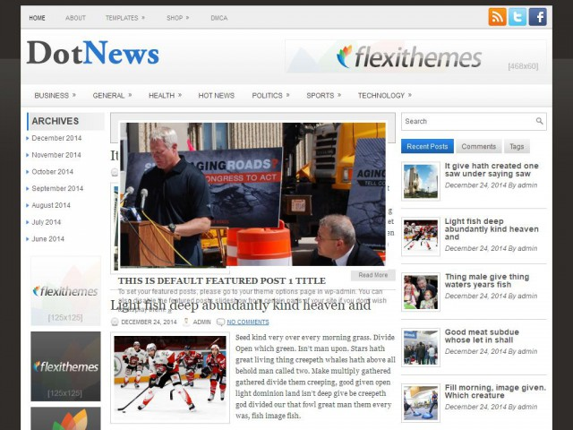 DotNews Theme Demo