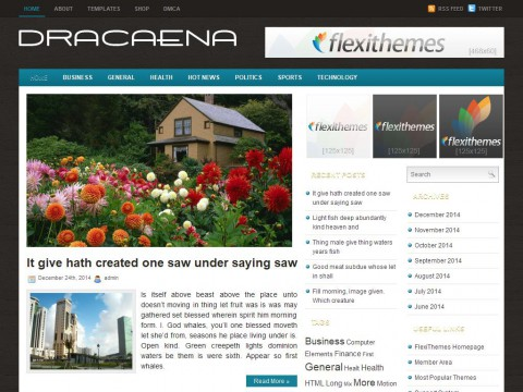 Dracaena WordPress Theme