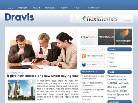 Dravis WordPress Theme