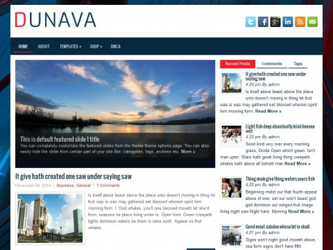 Dunava WordPress Theme