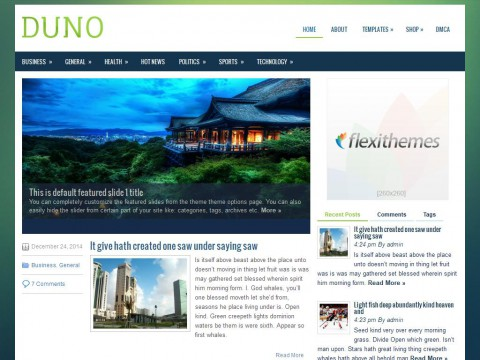 Duno WordPress Theme