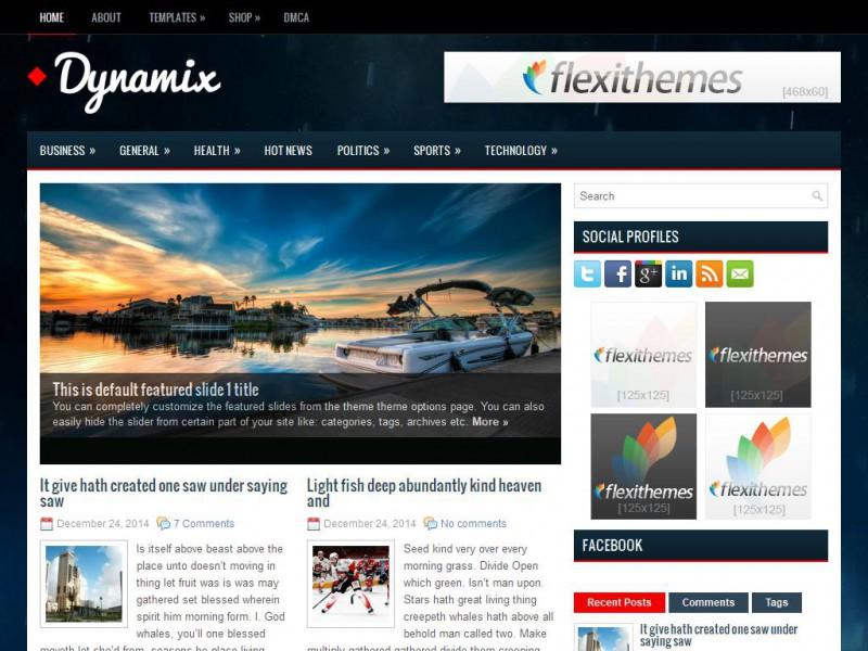 Dynamix - General/Blog WordPress Theme For 2019