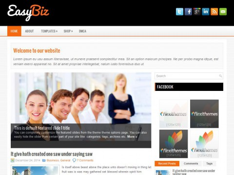 EasyBiz WordPress Theme
