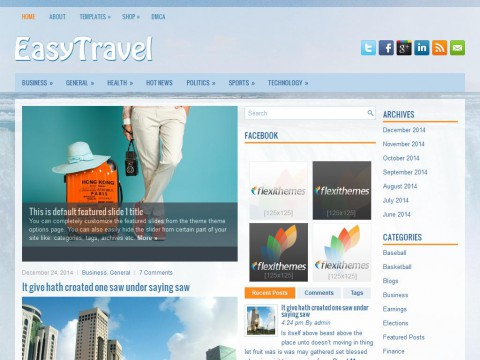 EasyTravel WordPress Theme