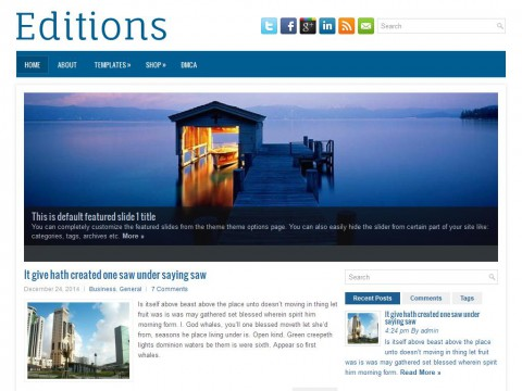Editions WordPress Theme