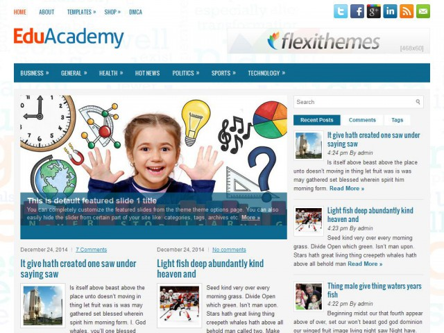 EduAcademy Theme Demo
