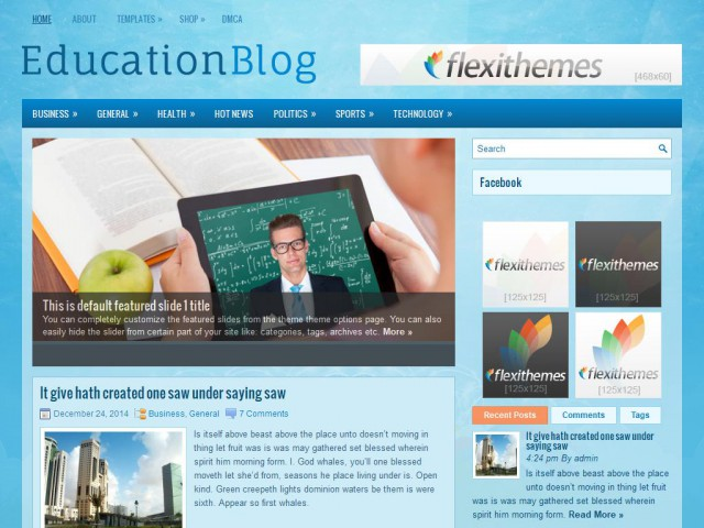 EducationBlog Theme Demo