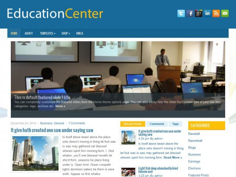 EducationCenter WordPress Theme