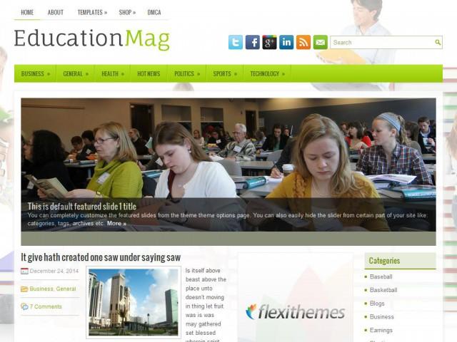EducationMag Theme Demo