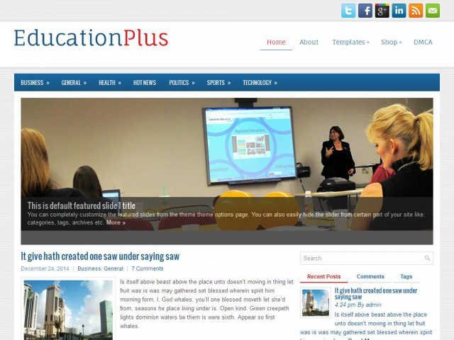 EducationPlus Theme Demo
