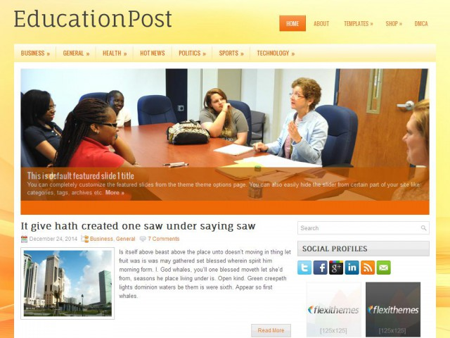 EducationPost Theme Demo