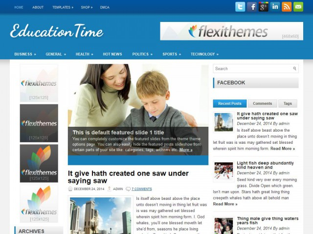 EducationTime Theme Demo