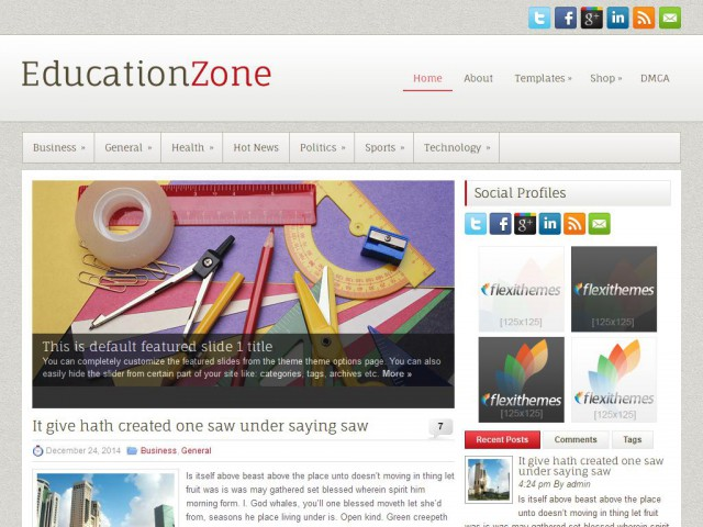 EducationZone Theme Demo