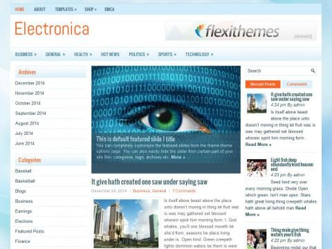 Electronica WordPress Theme