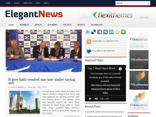 Elegant News Theme Demo