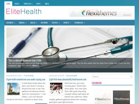 EliteHealth WordPress Theme