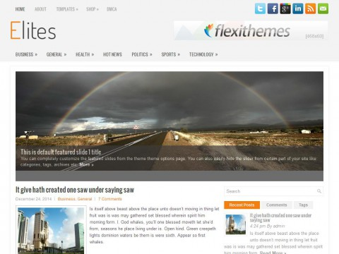 Elites WordPress Theme