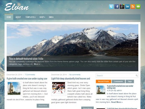 Elvan WordPress Theme