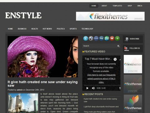 Enstyle WordPress Theme