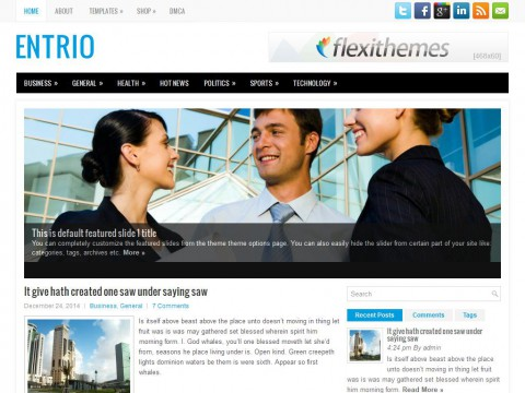 Entrio WordPress Theme
