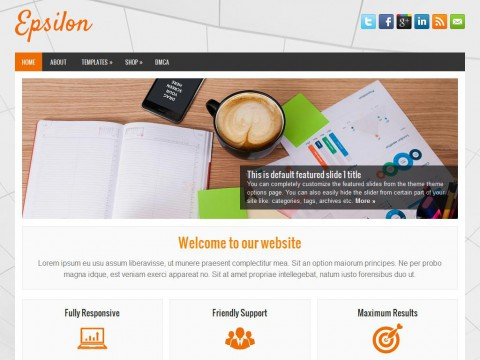 Epsilon WordPress Theme
