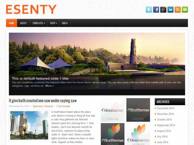 Esenty Theme Demo