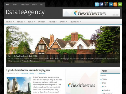 EstateAgency WordPress Theme
