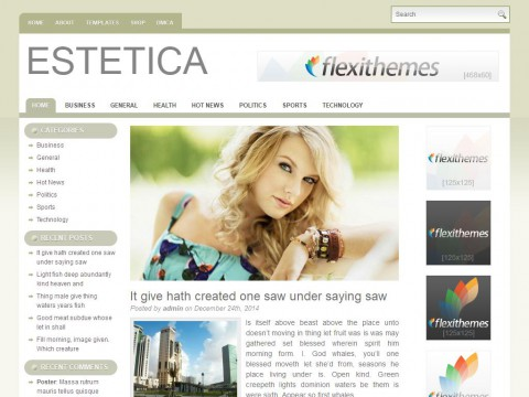 Estetica WordPress Theme