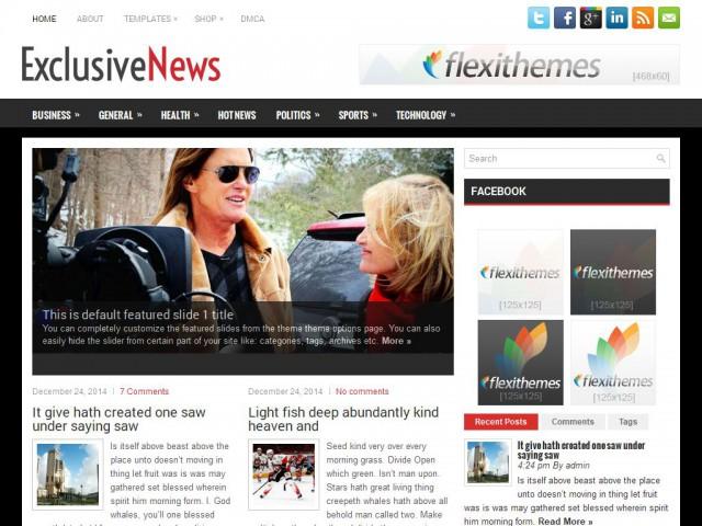 ExclusiveNews Theme Demo