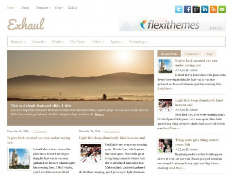 Exhaul WordPress Theme