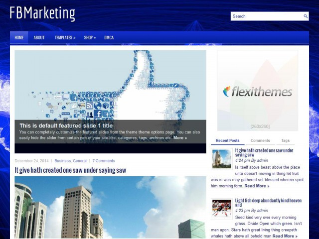 FBMarketing Theme Demo