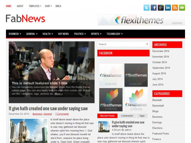 FabNews Theme Demo