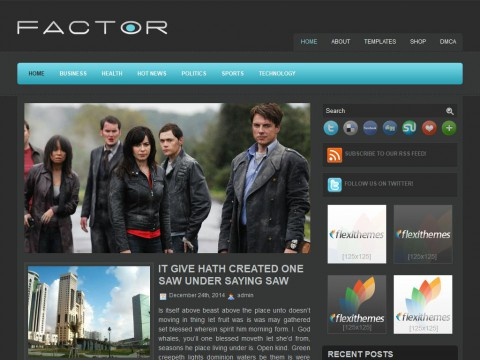 Factor WordPress Theme