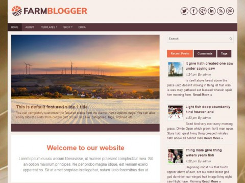 FarmBlogger WordPress Theme