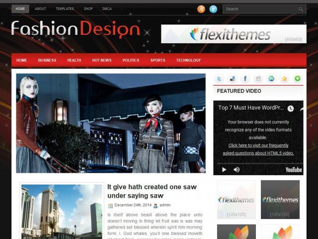 FashionDesign Theme Demo