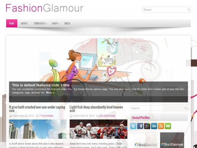 FashionGlamour Theme Demo