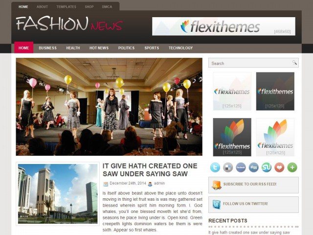 FashionNews Theme Demo