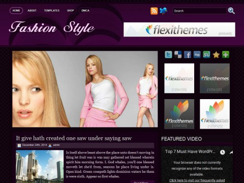 Fashion Style WordPress Theme